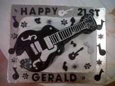 21st Guitar Cake
