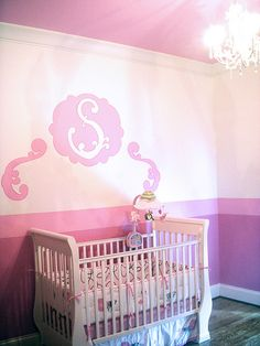 This would be nice in blues, purples for a boy or girls room.  Love it!   pink nursery by gathering spriggs, via Flickr