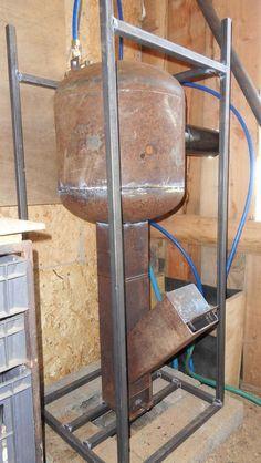 Chauffe-eau à bois sur rocket stove.