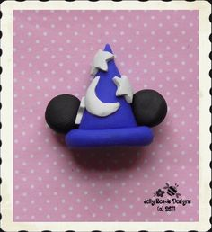 Mickey's Magic Hat polymer clay bead/bow by jellybeadsdesigns, $3.50