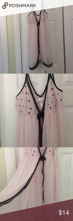 Oscar de la Renta Babydoll Cute Pink And Black Sheer Babydoll Oscar de la Renta Intimates & Sleepwear