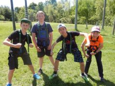 The boys are ready to tackle the High Ropes! #Boys #Leadership #HighRopes #FrenchFun