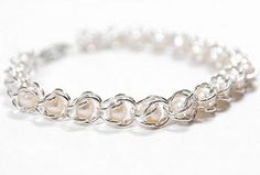 Nestled Pearls Chainmaille Bracelet | AllFreeJewelryMaking.com