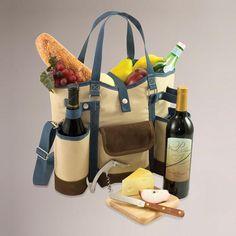 Vineyard Wine & Cheese Tote