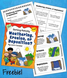 Weathering, Erosion, or Deposition Sorting Activity freebie from Laura Candler. Students sort descriptions of geologic changes into three categories to review earth science concepts.