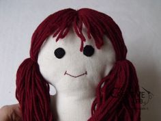Pigotta tutorial: how to make face and hair - The creative lab Creative Labs, Doll Hair, Baby Dolls, Hello Kitty, Crochet Hats, Christmas Ornaments, Sewing, Holiday Decor, Face