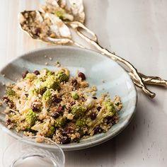 Romanesco, quinoa, pine-nut and raisin salad