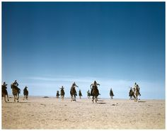 Robert Capa | The French Camel Corps, the Meharists, practicing maneuvers in the desert, Tunisia], 1943