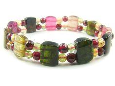 BA3637 Multicolors Tourmaline Natural Crystal Stretch Bracelet - See more at: http://waggashop.com/wagga-shop-ba3637-multicolors-tourmaline-natural-crystal-stretch-bracelet