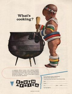 1957 South Africa travel print ad cute Baby by catchingcanaries, $9.00