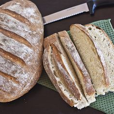 Artisan Bread - so easy and delicious and only 4 ingredients.  Need to try this.