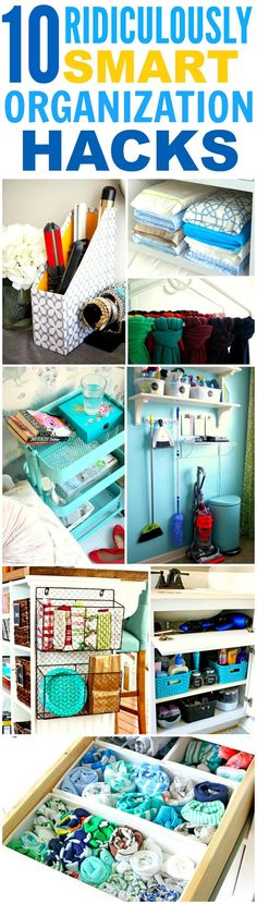 These 10 home hacks that'll made you an organization genius are THE BEST! I'm so glad I found these AWESOME tips! Now I can have a cute and organized house! Definitely repinning for later!