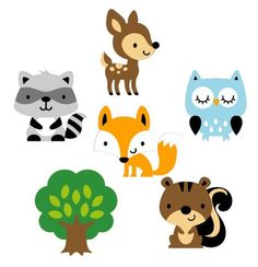 Adorable set of 6 woodland animal die cuts. Height: 1.5-2: perfect for scrap booking, card making, and party favors. These are the same size as the die cuts on the cupcake toppers. 2.5-3.25: great for small centerpieces, scrap booking and card making 4.25-5: excellent for large