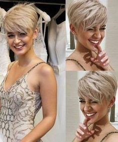 Elegant Short Blonde Pixie Hairstyles – Styles and more interesting things Hair Cuts For Over 50, Cute Short Haircuts, Short Sassy Hairstyles, Edgy Pixie Haircuts, Sassy Haircuts, Everyday Hairstyles, Very Short Hair, Long Hair, Funky Short Hair