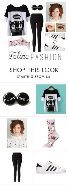 """Kitty Cat😸"" by a-valen ❤ liked on Polyvore featuring JVL, Dorothy Perkins, OPTIONS, Miss Selfridge, adidas, contestentry and catstyle"
