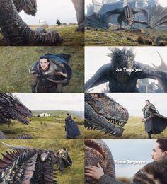 Drogon knows Jon is family. (7x5)