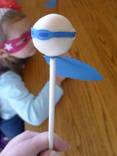 Super hero cake pop, but I could make pencil toppers like this.