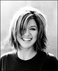 Kelly Clarkson's cute choppy cut
