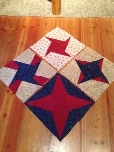 Patriotic Block of the month, months 1-4.