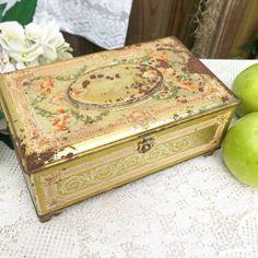 Antique Decorative Artstyle Chocolates tin