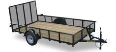 Standard Mesh Sides Single Axle Utility Trailers by Kaufman Trailers Moving Furniture, Utility Trailer, Trailers, Camper, Mesh, Building, Caravan, Pendants, Buildings