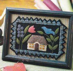 Wool Felt Pattern Itty Bitty Penny Rug Quilt Mini Applique from Magazine | eBay