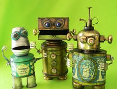 Robot Assemblage Group - Howie - Boxer - Vera - Reclaim2Fame by Reclaim2Fame, via Flickr: