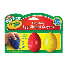 My First Crayola Easy Grip Egg Shaped Crayons Red & Yellow - Easter Crafts Baby Easter Basket, Easter Baskets, Easter Baby, Hoppy Easter, Easter Eggs, Baby Crayons, Ri Happy, Egg Shape, Easy