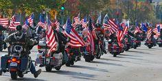 Veterans Day  #HarleyDavidson #Parade #Honor