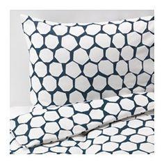 IKEA - FLÖNG, Housse de couette et taie, 150x200/65x65 cm, , Le coton est doux et agréable contre la peau.