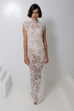 Norma Kamali RTW Spring 2013 .. more modern lace