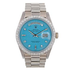 """AAAAAHHHHHH!!! I almost died! ROLEX Diamond """"Stella"""" Dial White Gold Day-Date"""