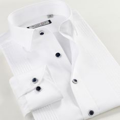 35.84 18% de réduction Smartfive Hommes de Chemises À Manches Longues Slim  Fit Blanc Smokings Pour Hommes Chemisette Masculina Solide Chemise Marque  ... 470dba595df2