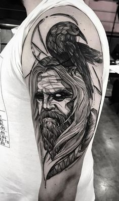All Things Heathen,Viking and Heathen Related Clothing and accessories Tattoos 3d, Trendy Tattoos, Sleeve Tattoos, Tattoos For Guys, Tattoo Ink, Tatoos, Norse Mythology Tattoo, Norse Tattoo, Viking Tattoo Sleeve