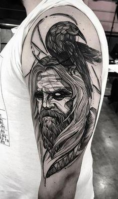 Norse God Mímir Tattoo
