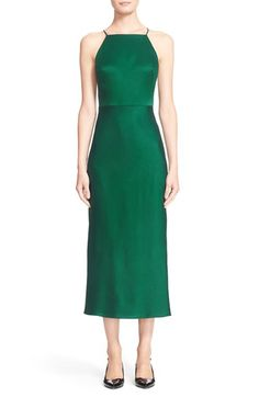 Free shipping and returns on Jason Wu Crepe Crossover Strap Dress at Nordstrom.com. Streamlined and beautifully fluid, a figure-skimming dress in emerald-green crepe features a stylish midi-length cut and slender crossover straps at the back.