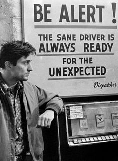 Robert De Niro as Travis Bickle in 'Taxi Driver', 1976.