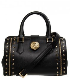 c06c3d00bb97 Versus Black Medium Doctors Bag from www.profilefashion.com Studded  Handbags