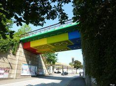 Street Artist Megx Makes Giant German Lego Bridge