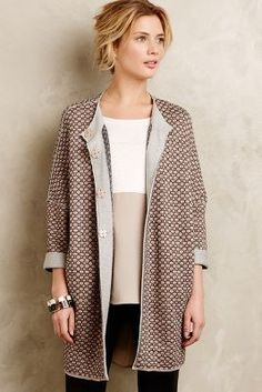 #anthrofave Devotion Tadi Geoprint Cardigan