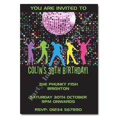 unique disco party invites | ... Party Invitations › Children's Disco › Disco Party! Invitation