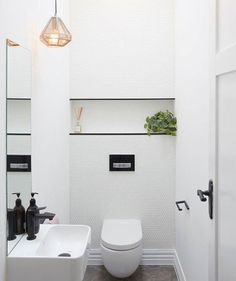One of the prettiest WCs ever presented on The Block well that's what The Block Shop team voted anyway - what do you think? @hannahandclint #toilettalk #bathrooninspo #9theblock #pennyroundtiles #elegantdesign http://ift.tt/2hYtlxY