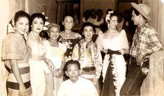 1954 Premiere of Biyenang Hindi Tumatawa at Sine Dalisay. Imelda Concepcion, Bella Flores, Chichay, Etang Discher, Aruray, Gloria Romero and Tolindoy.