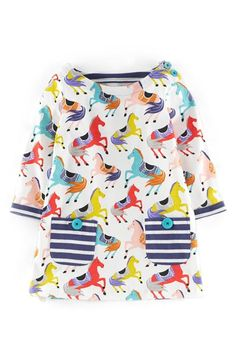 Mini Boden Jersey Tunic (Toddler Girls, Little Girls & Big Girls) available at #Nordstrom