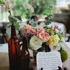 A beautiful wedding with a delicious looking dessert table.