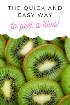 Here is the quick and easy way to peel a kiwi! It's simple and easy to do. Tips Easy Healthy Recipes, Great Recipes, Easy Meals, Simple Recipes, Healthy Meals, Recipe Ideas, Learn To Cook, Food To Make, Eat Fruit