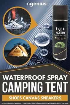 Water Repellent Spray is the best choice for using in leather-related products and nubuck provides water and stain repellent shield for shoes, boots, fabrics, Textile, Cotton, Wool, and Polyester fabric. #shoes #waterproof #campingtent #outdoor #waterproofcase Camping Ideas, Tent Camping, Shoe Cleaner, Water Stains, Clean Shoes, Fabric Shoes, Nanotechnology, Amazon Products, Canvas Sneakers