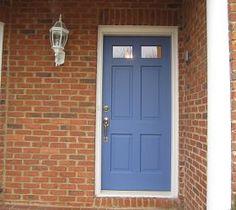 Farrow & Ball 'pitch blue' door