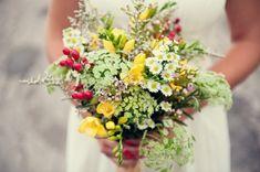 Hochzeitsblumen – wählen Sie die schönsten Blumen für Ihren Brautstrauß - hochzeitsblumen gelb wildblumen brautstrauß