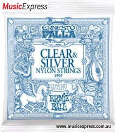 Ernie Ball 2403 Ernesto Palla Nylon Clear and Silver Classical Acoustic Guitar Strings Classical Acoustic Guitar, Acoustic Guitar Strings, Acoustic Guitars, Classical Guitars, Jerry Cantrell, The Rolling Stones, Alice In Chains, Chris Cornell, Fleetwood Mac